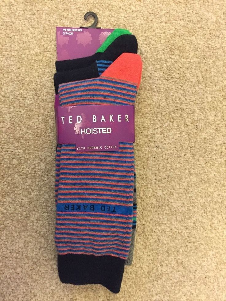 3 TED BAKER HOISTED With Organic Cotton sock set BNWT RRP£22 starips