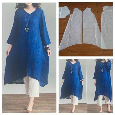 V neck tunic blouse pattern