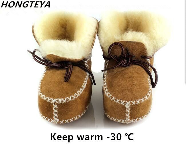 New Arrived Genuine Leather Wool Fur Baby Boots //Price: $10.12 & FREE Shipping // #WeedingDresses