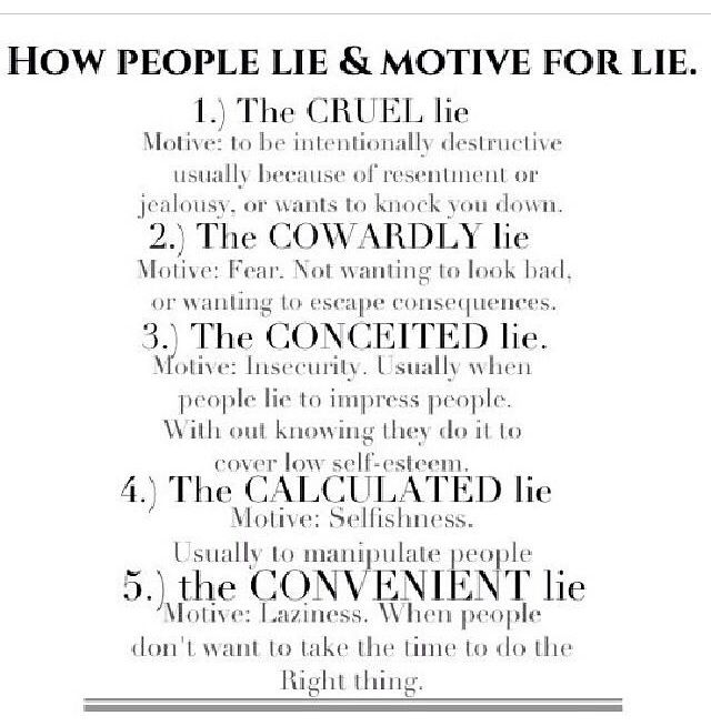 why people lie The lie does matter  to them the number one reason people lie when it just  doesn't matter is because they actually do think it matters while everyone around .
