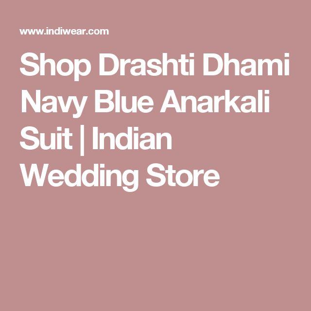 Shop Drashti Dhami Navy Blue Anarkali Suit   Indian Wedding Store
