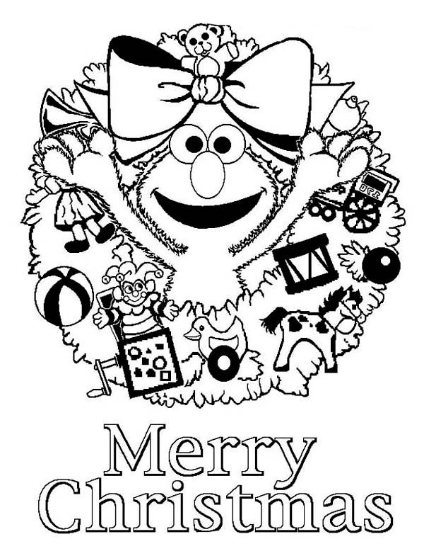 Happy Merry Christmas From Elmo On Christmas Coloring Page Color Luna Christmas Coloring Pages Elmo Coloring Pages Merry Christmas Coloring Pages