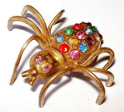 Hey, I found this really awesome Etsy listing at https://www.etsy.com/listing/180197912/victorian-art-deco-spider-pin-brooch
