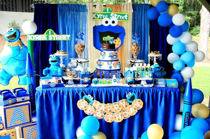 Kyrees cookie monster bash   CatchMyParty.com