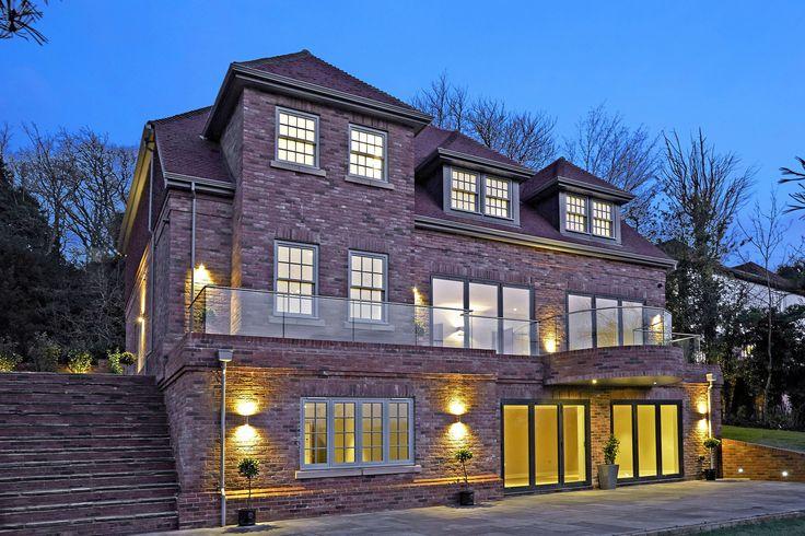 The Plain House - #window #doors #design #garden #night #landscape #lighting #mansion #timber #wood #aluminium