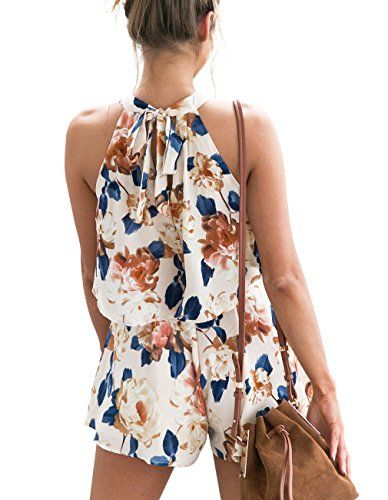 14792ee7000c Sanifer Women s Floral Printed Crop Top Shorts Set Summer 2 Pieces Outfits Jumpsuits  Rompers Playsuits