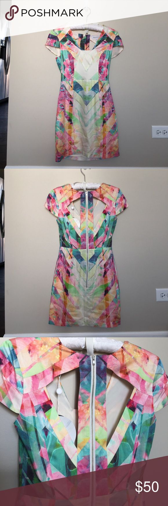 """Finders Keepers """"Original Sin"""" Mini Dress Brand new with tags! Finder's Keepers minidress in multiple pastel colors. Such a cute dress for summer events.  Fun cutout back pattern. Finders Keepers Dresses Mini"""