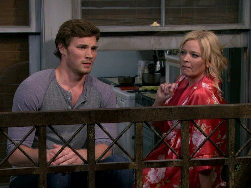 Still of Melissa Peterman and Derek Theler in Baby Daddy (2012)
