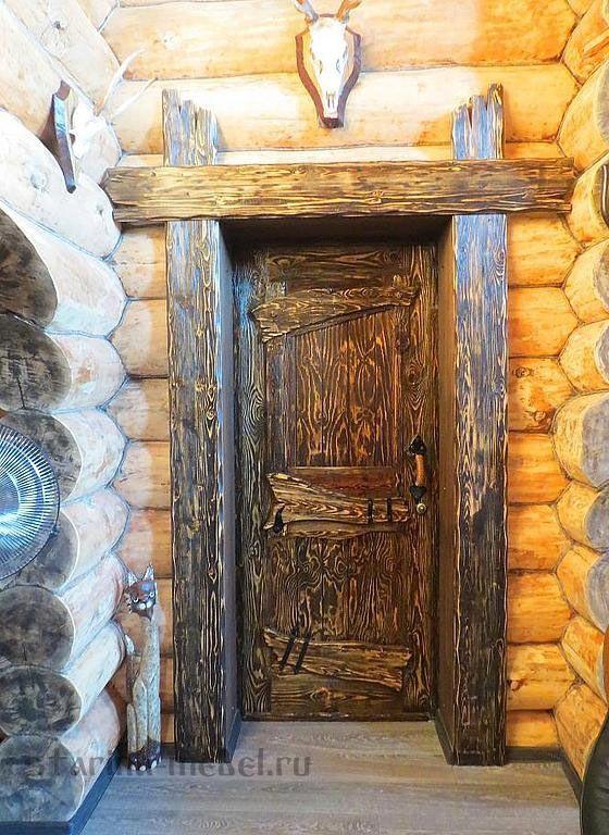 """Дверь под старину Боярская и другие двери под старину вы можете заказать в магазине """"Мебель-старина"""""""