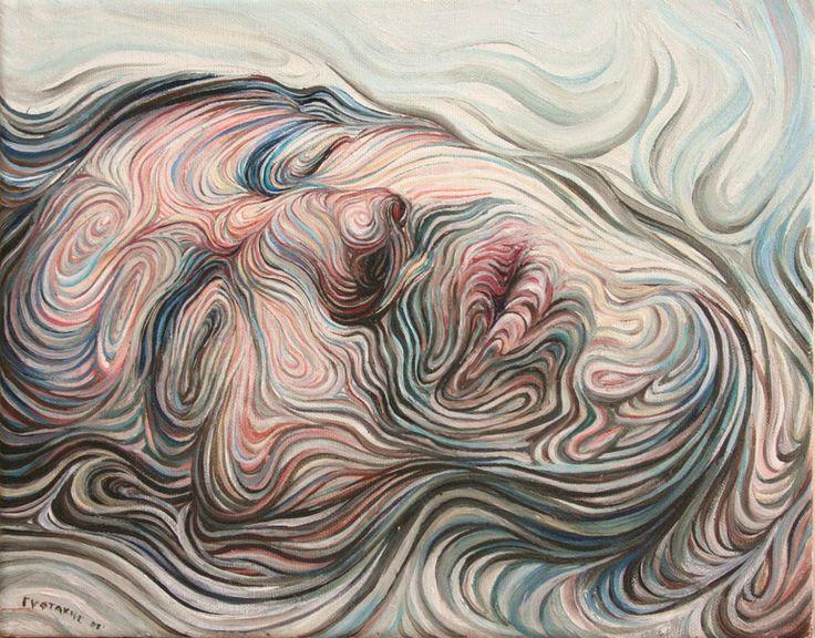 "Saatchi Online Artist: Nikos Gyftakis; Oil, Painting ""Selfportrait"""