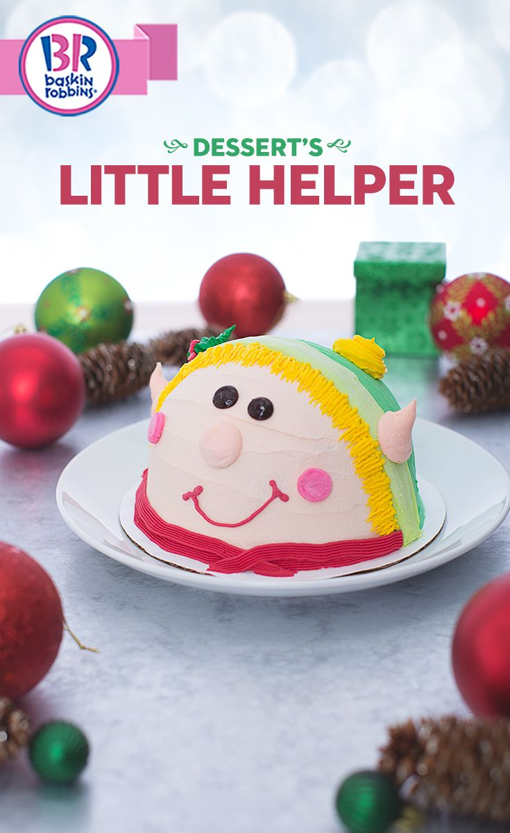 Complete your dessert table this holiday season with the sweetest little helper. This delicious treat will add life to your party and is a great centerpiece for any celebration this month. You can even add your favorite ice cream flavor and cake.