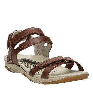Love this Chestnut Hailey Leather Sandal by Propét on #zulily! #zulilyfinds