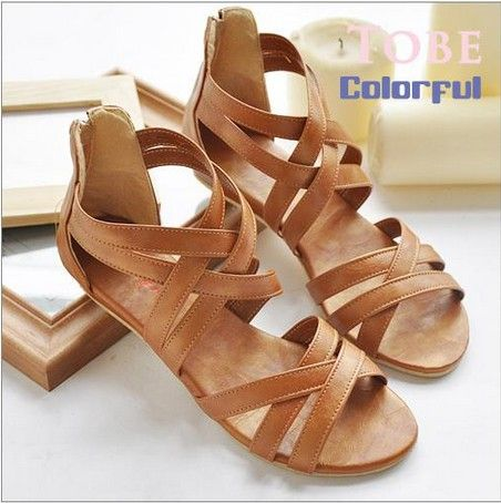 Gladiator style flat sandals