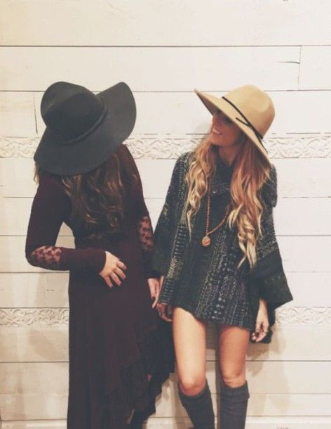 dress boho indie maxi mini 70s style 70s style 1970 hat floppy hat pendant long sleeves gypsy boho dress