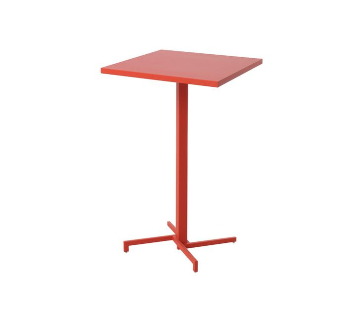 Folding square high table steel sheet top 75x75