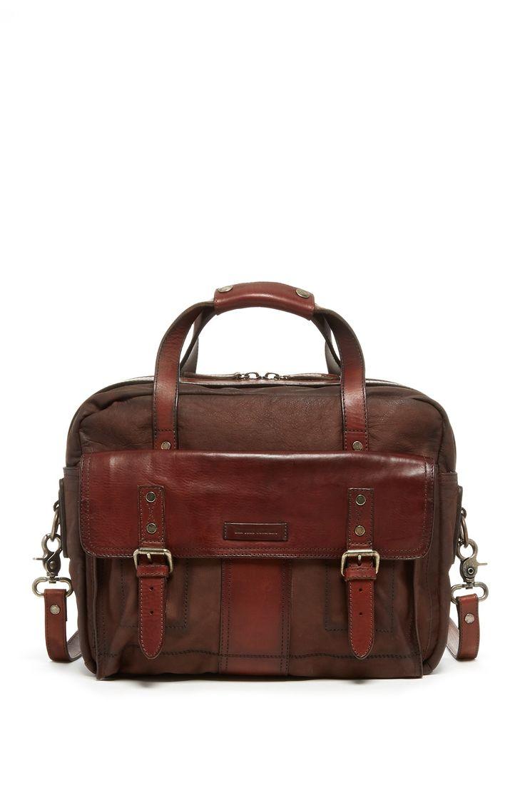 Frye | Trevor Leather Utility Briefcase