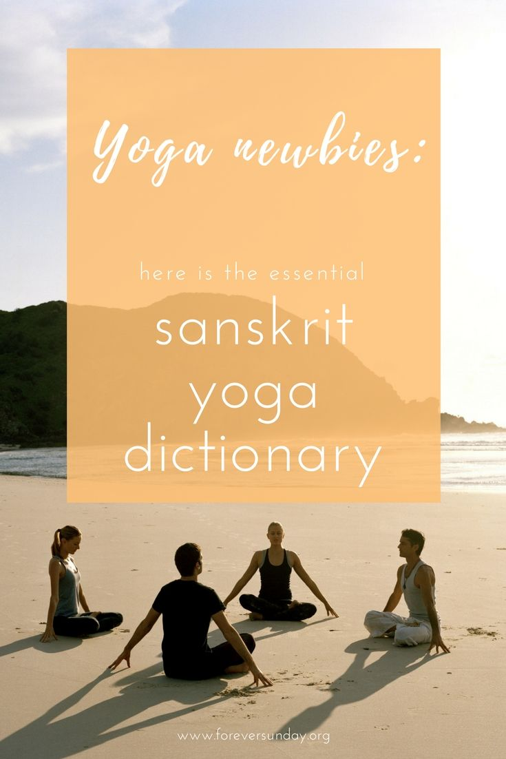 Yoga newbies: here is the essential Sanskrit yoga dictionary. Lock your bandhas in this asana, now do a vinyasa, focus on your drishti, feel
