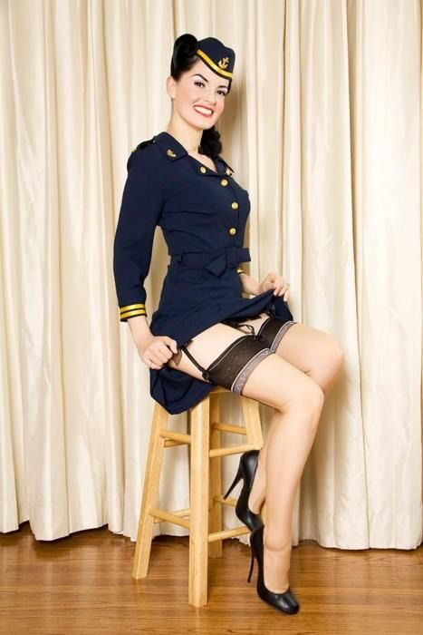 Uniform with stockings and high heels pin your pin up on art of the