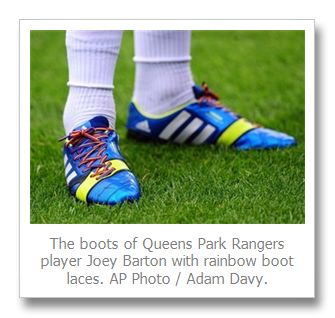 Rainbow shoe-lace campaign against gay abuse causes stir in English Premier League