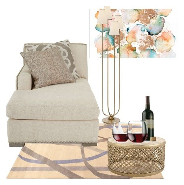 """beige"" by paola-diaz-ii on Polyvore featuring interior, interiors, interior design, home, home decor, interior decorating, ABC Italia, Massoud, AERIN and Jayson Home"