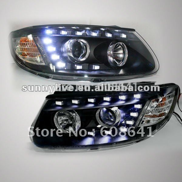 399.88$  Buy now - http://alil0y.worldwells.pw/go.php?t=612385542 - For 2006-2010 Hyundai Santa Fe LED Head Lamp