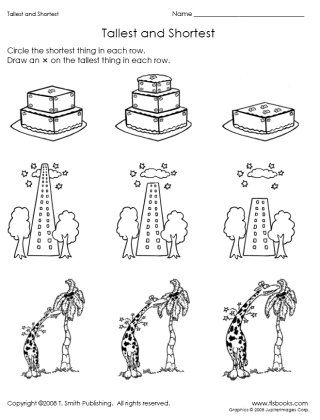 Snapshot image of Tallest and Shortest worksheet from www