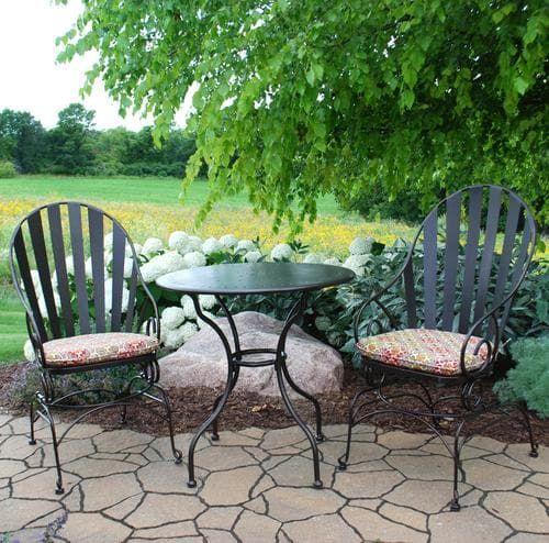 Backyard Creations® Cedar Creek 3-Piece Bistro Patio Set at Menards®: Backyard Creations® Cedar Creek 3-Piece Bistro Patio Set
