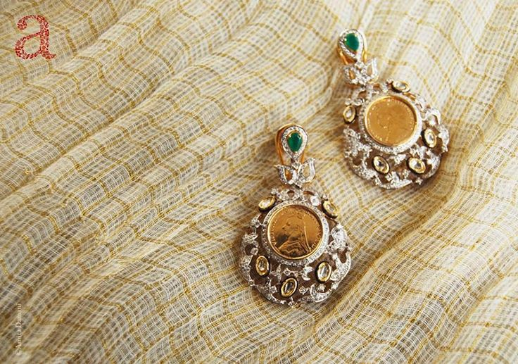 Indian Jewellery and Clothing: Unique designs of jhumkas/earrings from Anita damani design...we rarely get to see these kind of designs and ...