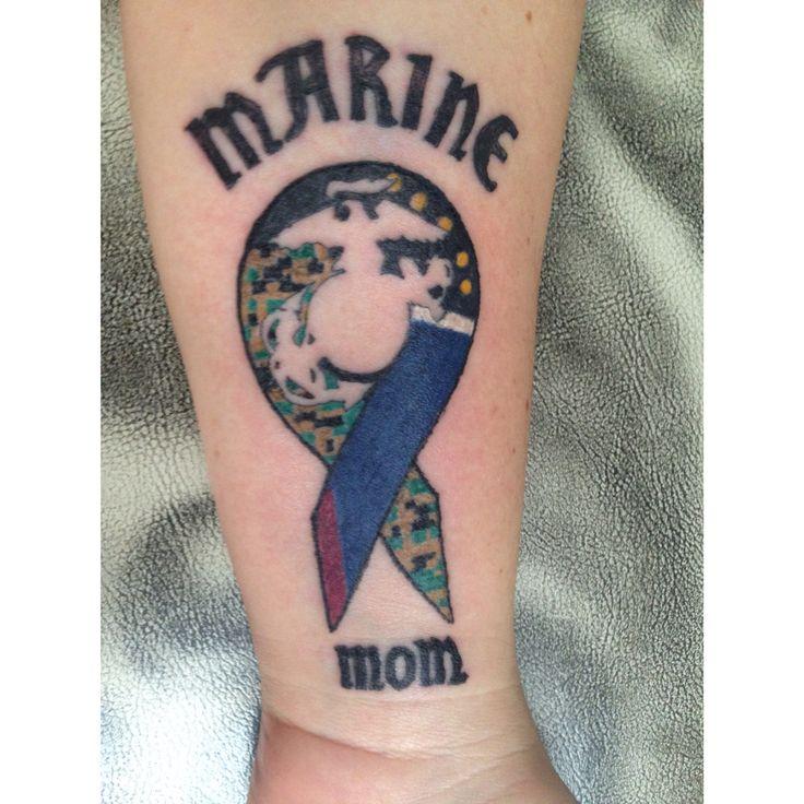 Marine mom tattoo