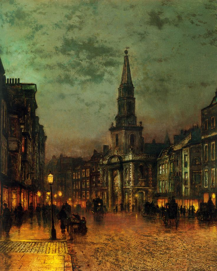 Blackman Street, London, by John Atkinson Grimshaw, 1885