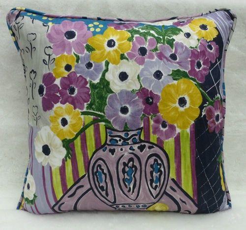 sanderson fabric still life cushion cover 100 cot bloomsbury canvas prints