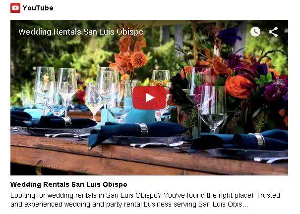Wedding Rentals San Luis Obispo