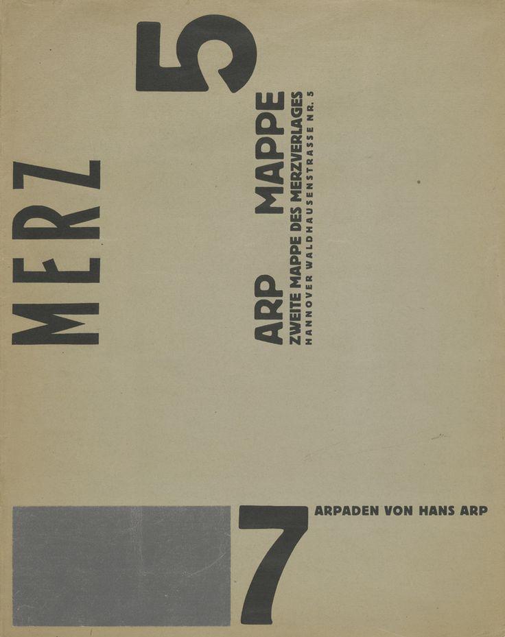 Jean (Hans) Arp. Portfolio Cover from 7 Arpaden. 1923