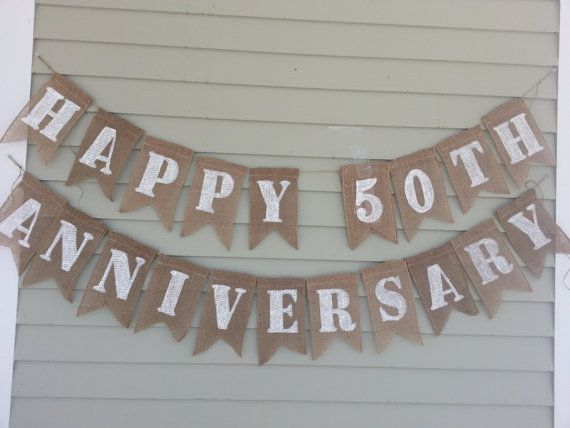Happy 50th anniversary banner. by BridesandBridesmaids on Etsy