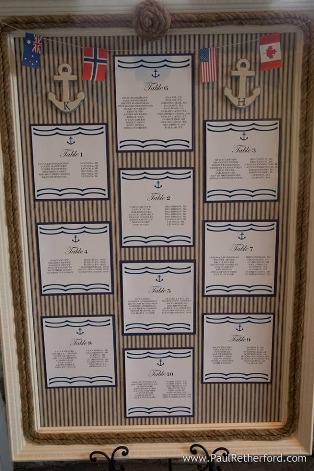 Nautical seating chart Wedding Pinterest Nautical