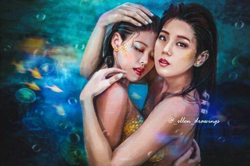 JenSoo  #Jennie #Jisoo #BlackPink #Art
