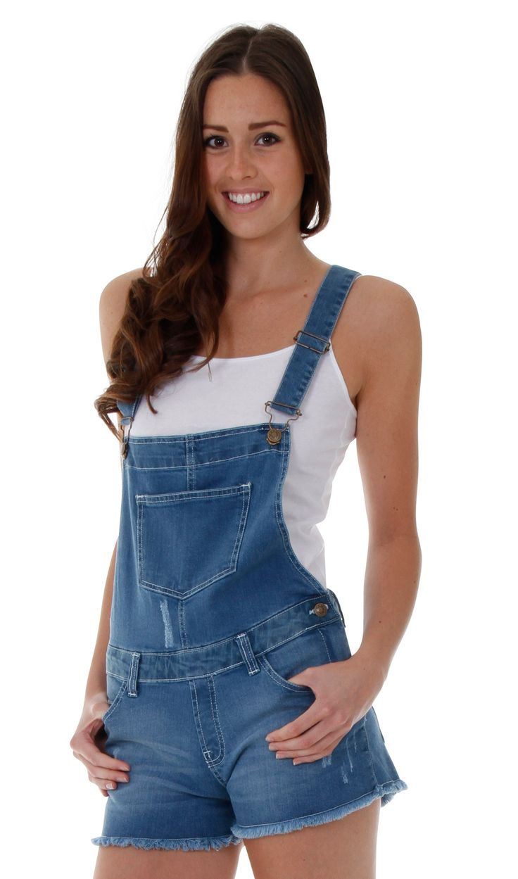 Summery ladies dungaree shorts. #cute #overalls #dungarees
