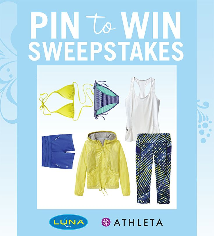 "Enter the LUNA & Athleta Pin-to-Win Sweepstakes at http://www.lunabar.com/pintowin. Follow LUNA's boards and pin with inspiration from our ""Athleta Wish List"" (http://www.pinterest.com/lunabar/athleta-wish-list/) board for your chance to win a $500 Athleta gift card!"