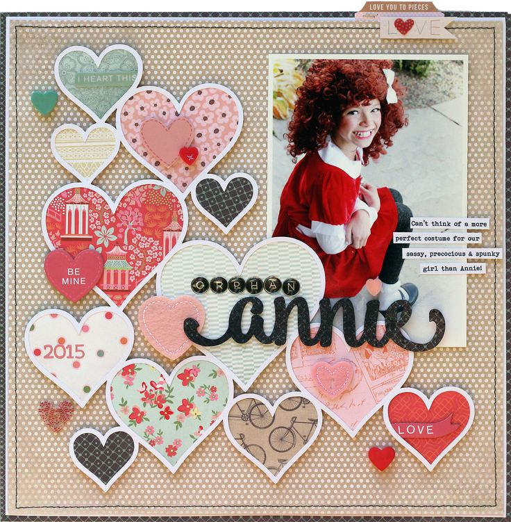 I like the hearts!  Orphan+Annie+by+Lisa+Dickinson+featuring+Dear+Heart+from+BasicGrey - Scrapbook.com