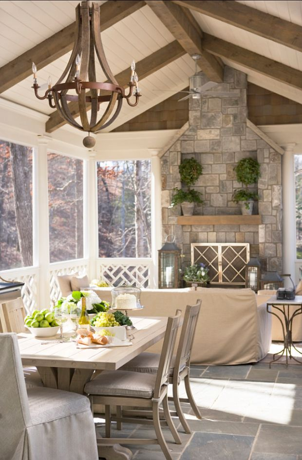 17 best images about porch general on pinterest hot Screened in porch with fireplace