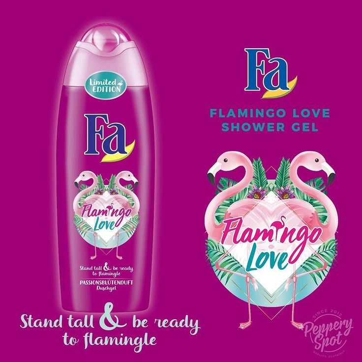 L I M I T E D  E D I T I O N Fa Flamingo Love shower gel with passion flower scent is available on our online store.