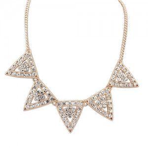 Naszyjnik trójkąty kryształy