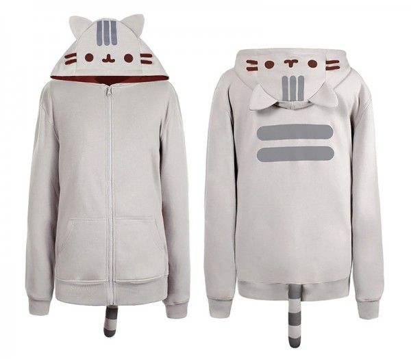 Keep Warm and Stay Cute - Pusheen hoodie  Our winter collection at http://www.lissomecollection.co.uk