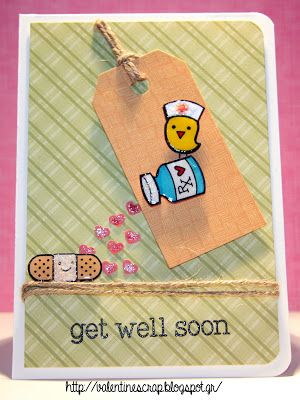 Valentine's Craft: Get well soon #Card 1