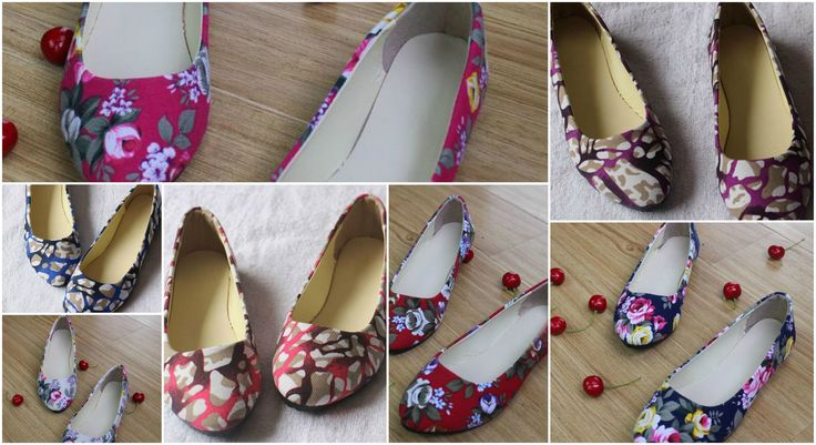 Flower Print Women Shoes Woman Ballerinas Large Size 42 Womens Loafers Ladies Shoes