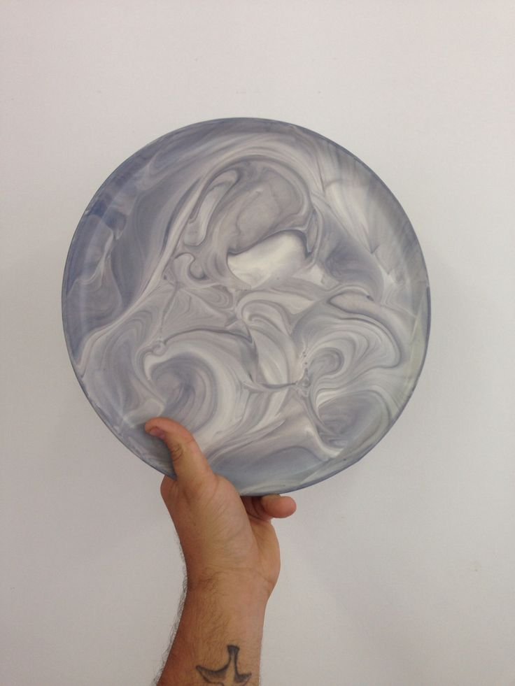 CK: Group to Watch: Marbleized porcelain plate by Felt+Fat