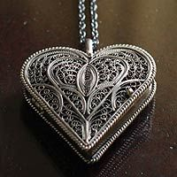 25 best lockets images on pinterest silver lockets silver locket silver locket heart necklace mozeypictures Image collections