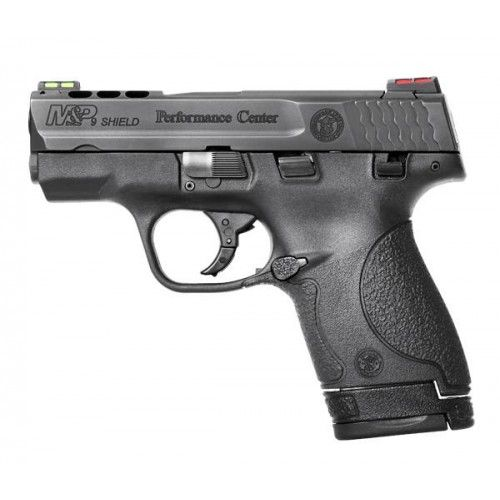 Smith and Wesson M&P 9 Shield Performance Center Black 9mm 3.1-inch 8Rd Ported Barrel Hi-Viz Sights