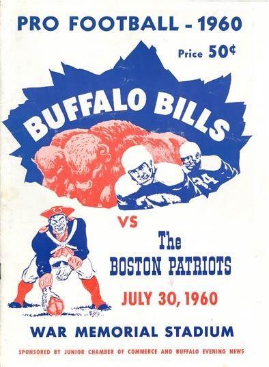 Boston Patriots at Buffalo Bills - July 30, 1960 Preseason Game Program