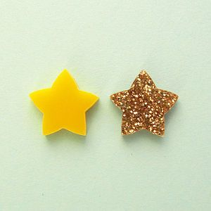 Star Stud Earrings - earrings